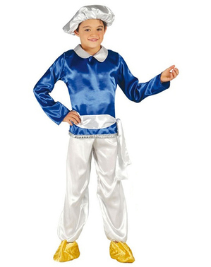Disfraz de paje Real azul para niño