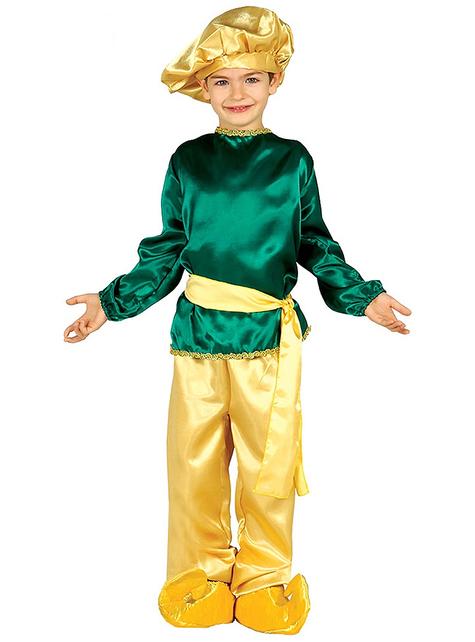 Disfraz de paje Real verde para niño