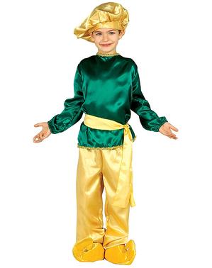 Costum de paj regal verde pentru băiat