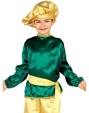Kunglig page Grön maskeraddräkt Barn