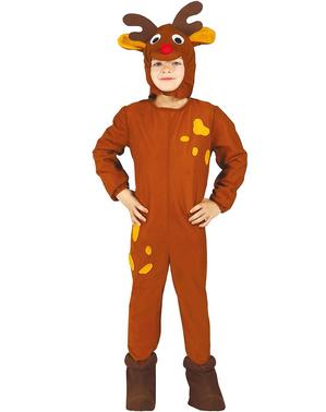 Fato de rena de Natal para menino