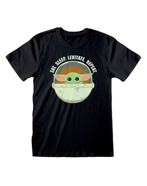 """Мъжка тениска с бебе Йода""""Eat. Sleep. Levitate. Repeat"""" от """"Мандалорианецът""""– """"Междузвездни войни"""""""