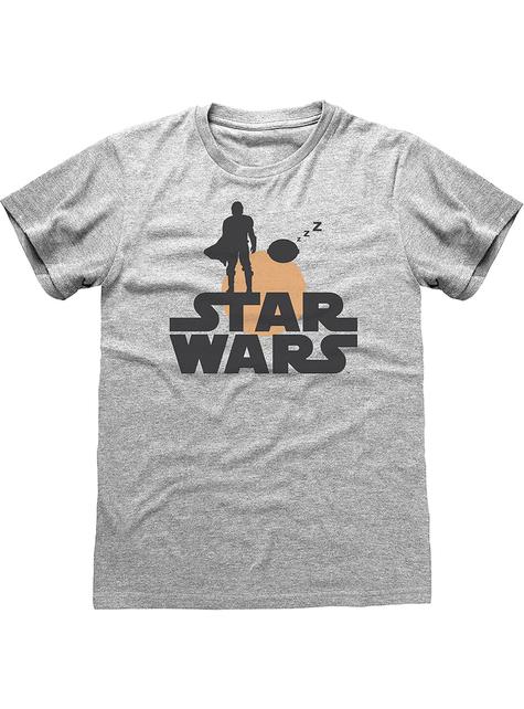 Camiseta The Mandalorian Star Wars retro para mujer