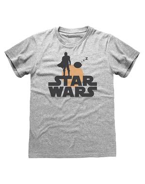 T-shirt The Mandalorian Star Wars retro para mulher