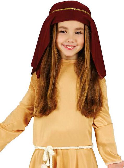 Fato de pastorinha hebraica para menina