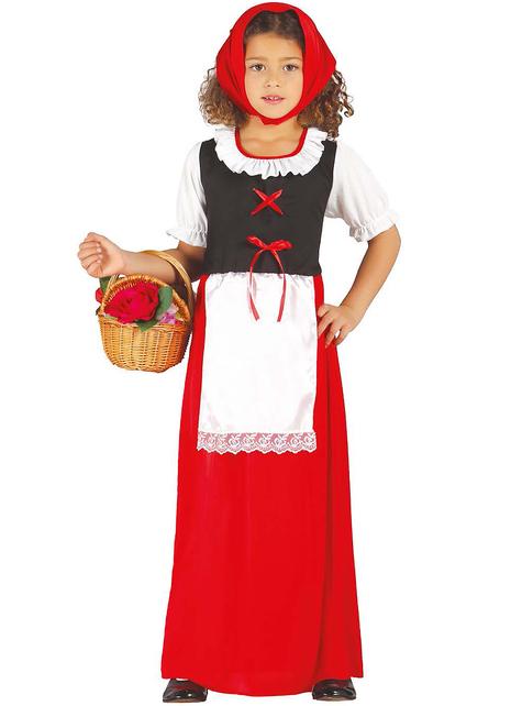 Fato de pastorinha clássica para menina