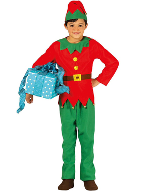 Weihnachtself Kostüm elegant für Jungen