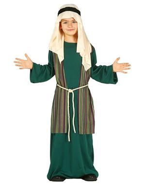 Disfraz de San José verde para niño