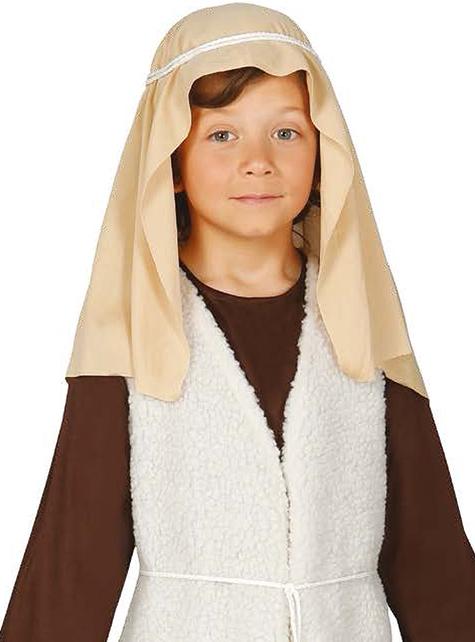 Disfraz de pastor hebreo marrón para niño