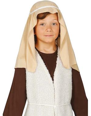 Fato de pastor hebraico castanho para menino
