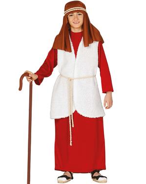 Hebräischer Pfarrer Kostüm rot für Jungen