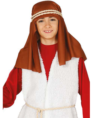 Fato de pastor hebraico vermelho para menino