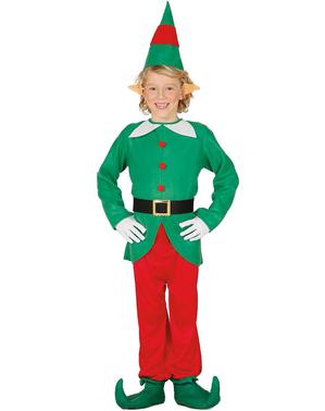Lustiges Weihnachtself Kostüm für Jungen