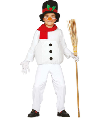 Fato de boneco de neve divertido para menino