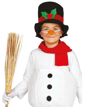 Costum om de zăpadă haios pentru băiat