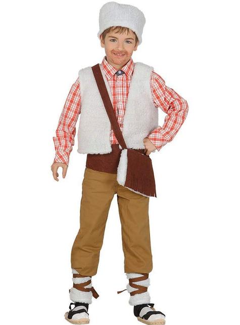 Kit disfraz de pastor del campo para niño