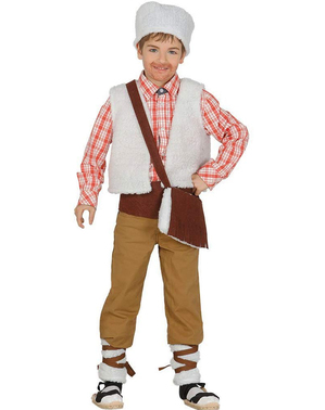 Costum de păstor de la țară pentru băieți