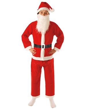 Момчета забавляват костюм за баща на Дядо Коледа