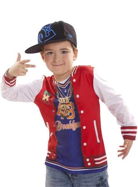 Camisola de rapper com flow para menino