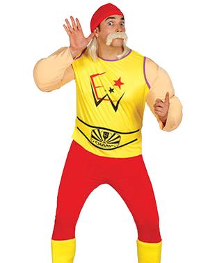 Maskeraddräkt Fighter Hogan vuxen