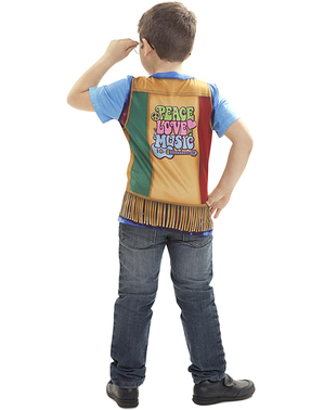 Camiseta de hippie flower power para niño