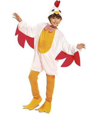 Fato de galinha poedeira para menina