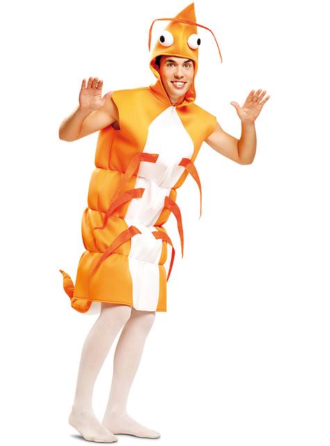 Fato de camarão para adulto