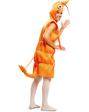 Garnelen Kostüm für Erwachsene