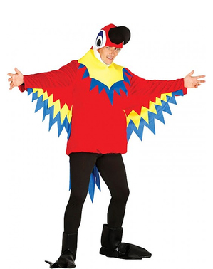 Maskeraddräkt Pladdrande Papegoja för vuxen