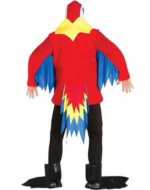 Costume da pappagallo chiacchierone per adulto