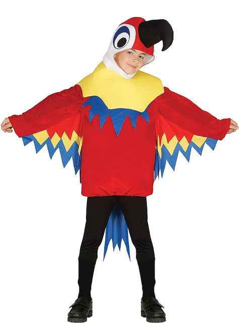 Chlapecký kostým papušek červený