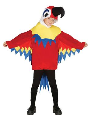 Costume da pappagallino rosso per bambino