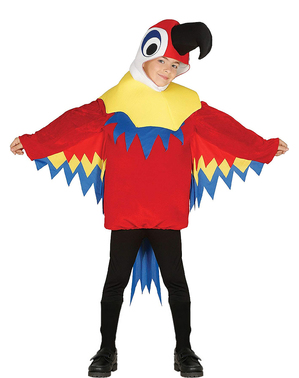 Poikien Punainen Pikku Papukaija -asu