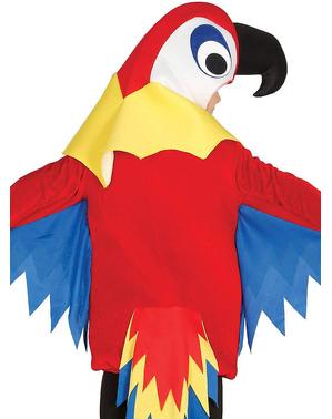 Papagei Kostüm rot für Kinder