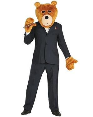 Bären Kopf und Hände Set für Erwachsene