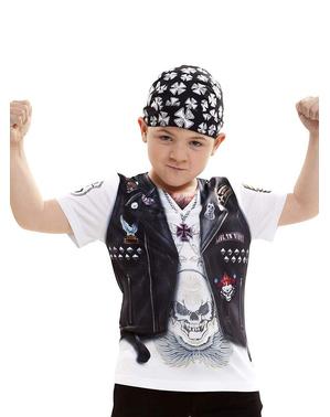 Maglietta da motociclista infernale per bambino