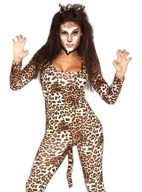 Disfraz de leopardo salvaje para mujer