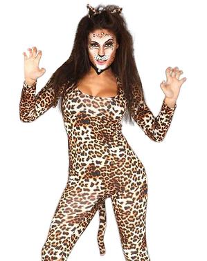 Costum de leopard sălbatic pentru femeie