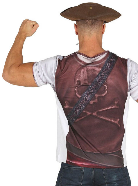 Camiseta de corsario duro para hombre