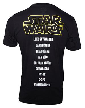 Star Wars Hahmojen Nimet -T-paita Miehille