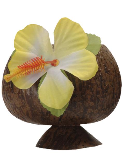 Vaso de coco hawaiano