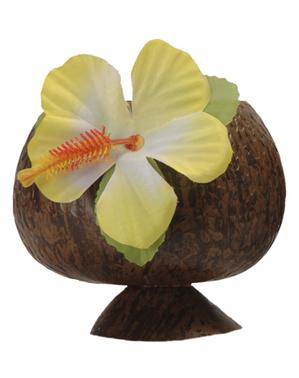 Bicchiere hawaiano di cocco