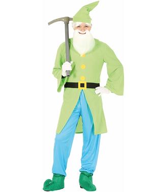 Grønt dverge kostyme til menn