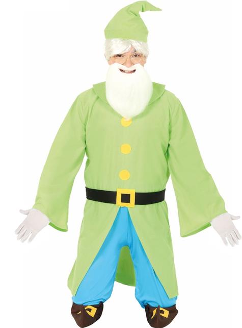 Fato de anão verde para homem