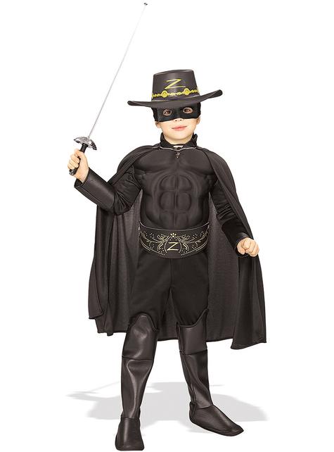 Disfraz del Zorro deluxe para niño