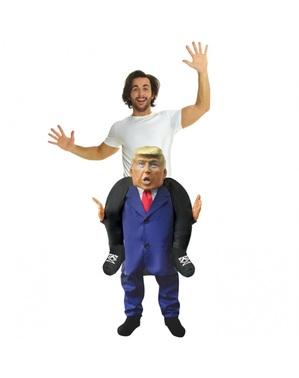 Костюм тип Piggyback на Доналд Тръмп за възрастни