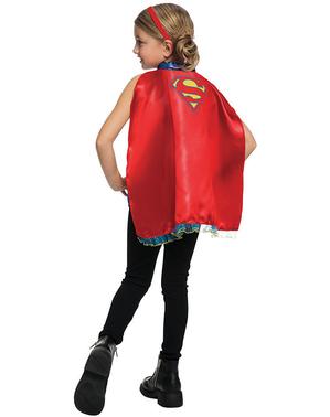 Tyttöjen Supergirl viitta ja hiuspanta