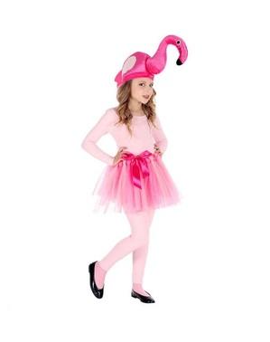 Fato de flamingo rosa para menina