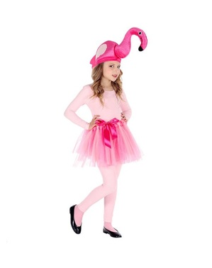 Pink flamingo costume for girls