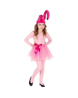 Flamingo Kostüm rosa für Mädchen